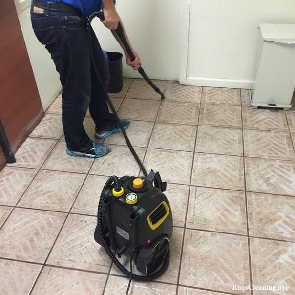Commercial grout cleaning service